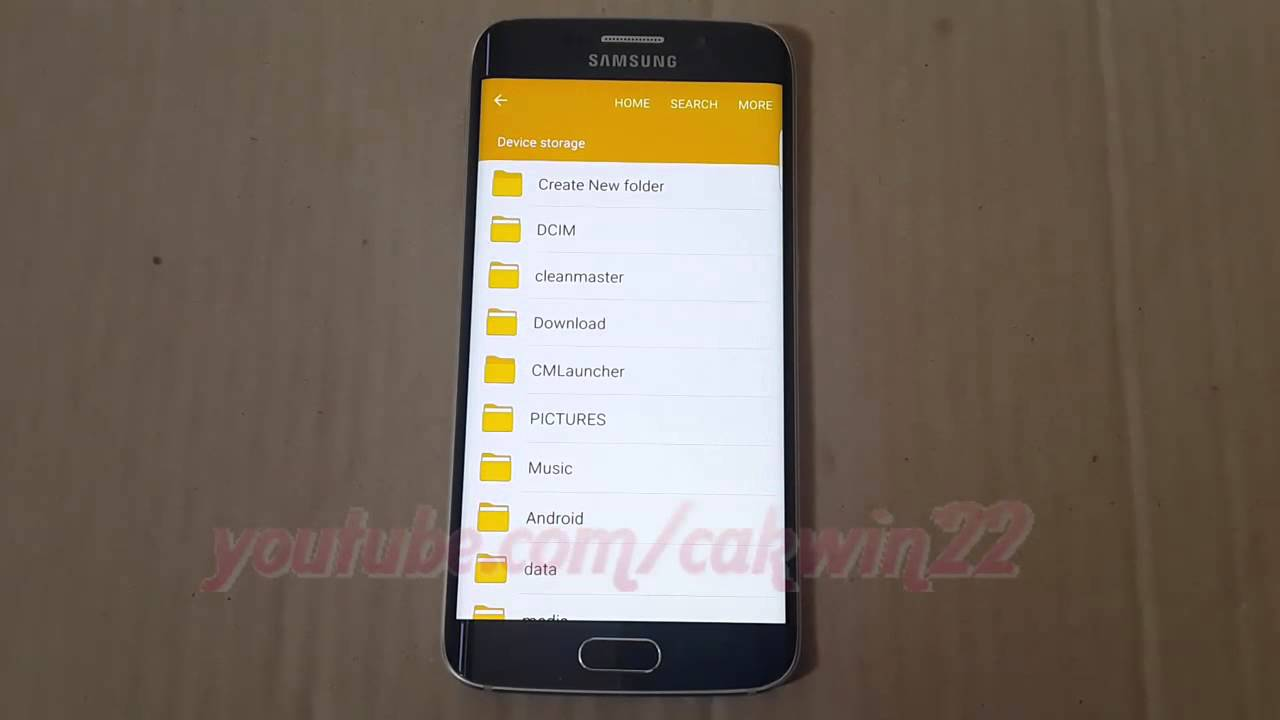 Samsung Galaxy S6 : How to Create Folder in My Files (File Manager)