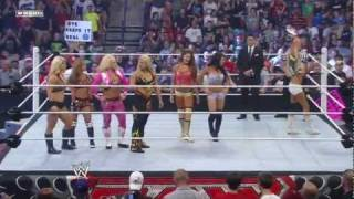 WWE Monday Night RAW - 14 Divas Tag Team Match (July 18, 2011)