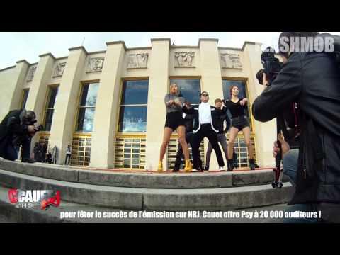 Cauet et Psy au Trocadéro  - Gangnam Style Flashmob in Paris - CCauet sur NRJ