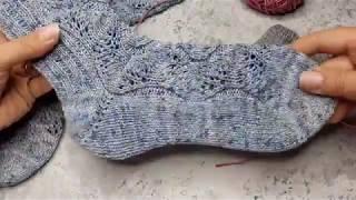 Вязание пятки бумеранг