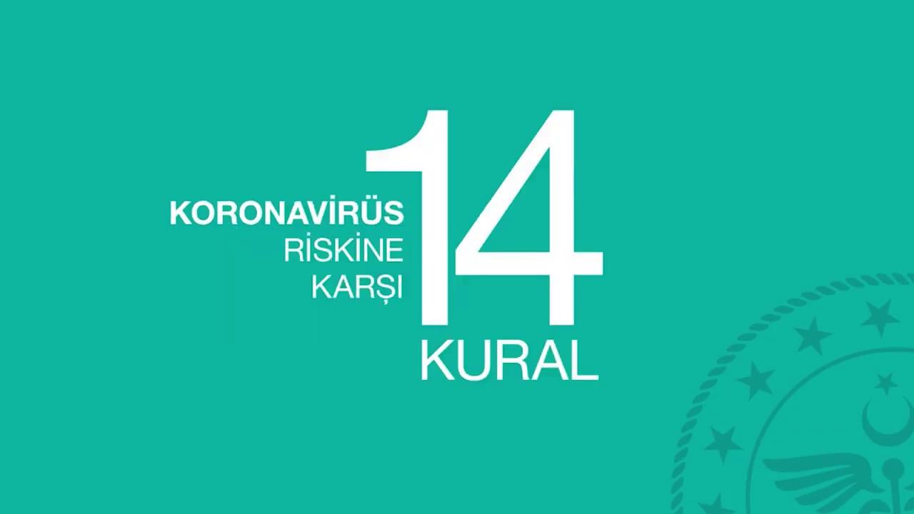 SAĞLIK BAKANLIĞI - KORONAVİRÜS RİSKİNE KARŞI 14 KURAL #koronaturkiye #SağlıkElimizde #KamuSpotu