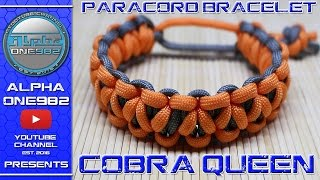 How to make paracord bracelet QUEEN COBRA -Underwood cobra - braid MAD MAX Edition