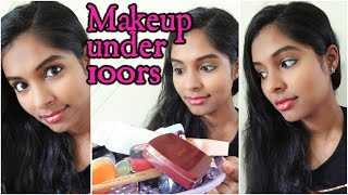 Makeup Using Products Under Rs 100 Challenge! (Tools included)|SJLovesJewelery Makeup Challenge