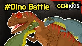 My Super DINO Fighting Short Movie | Dinosaurs Battle cartoon for children ★Genikids