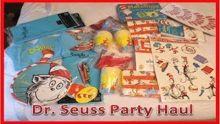 Dr. Seuss Party Supply Haul