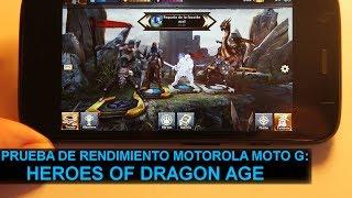 Prueba de rendimiento Motorola Moto G: Heroes of Dragon Age
