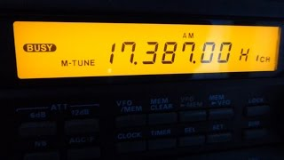 E22 Numbers station on Shortwave Radio May 2015