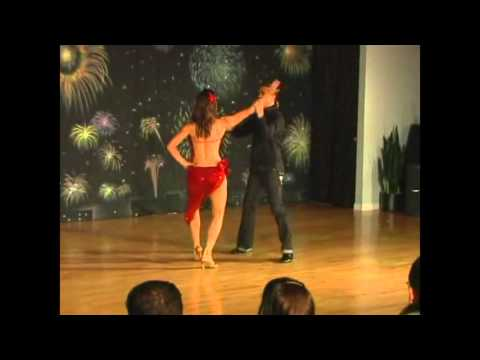 Peter Hodgson's First Salsa Performance with Andria Radmacher