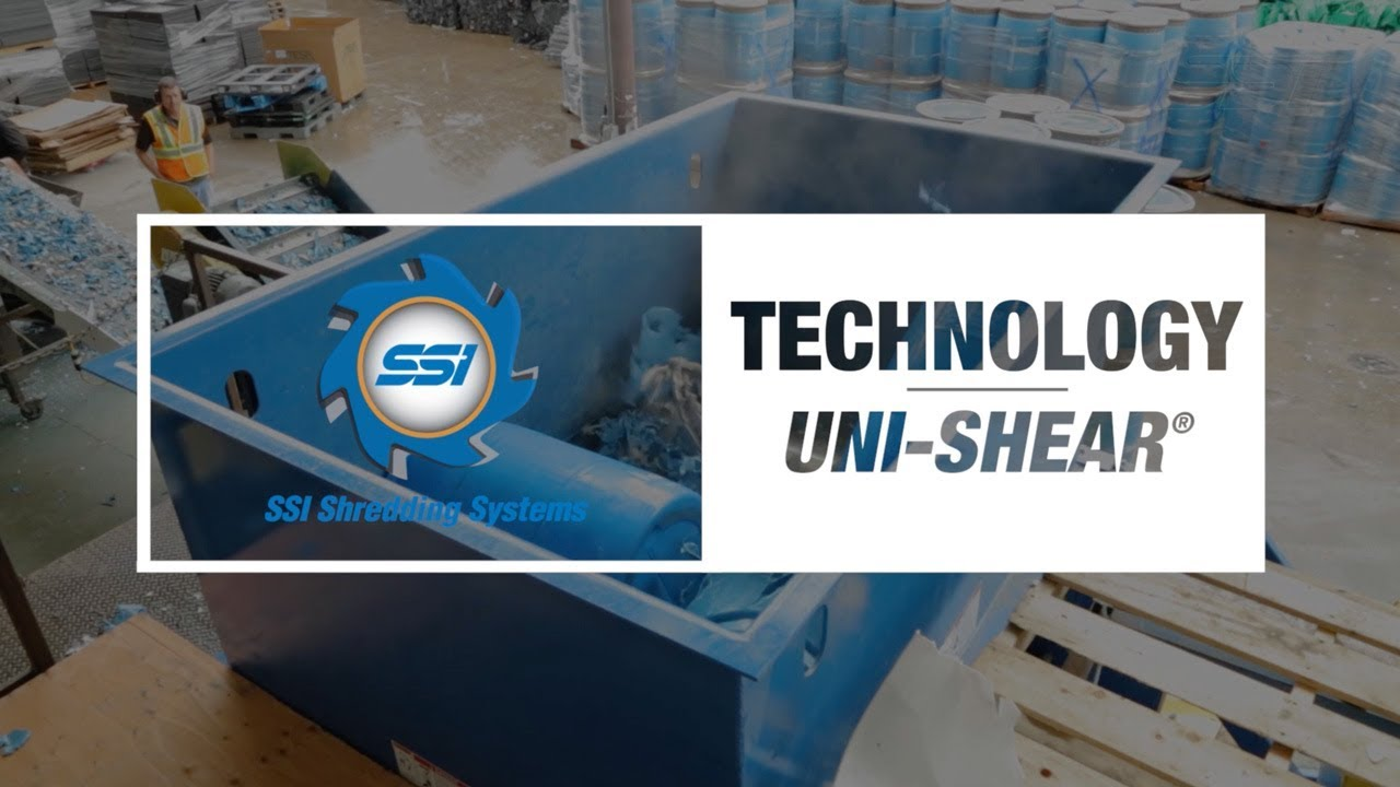 SSI Technology: Uni-Shear One-Shaft Industrial Shredder