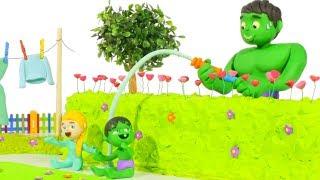 SUPERHERO PLAY WITH WATER ❤ Superhero Babies Play Doh Cartoons For Kids