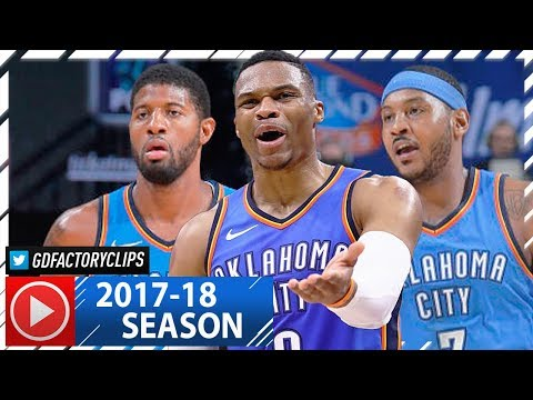 Russell Westbrook, Carmelo Anthony & Paul George Highlights vs Kings (2017.11.07) - STRUGGLES AGAIN!