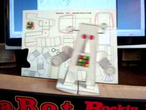 how to make a paper robot that walks
