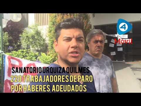 Sanatorio Urquiza de Quilmes: paro por deudas salariales con guardias médicas mínimas