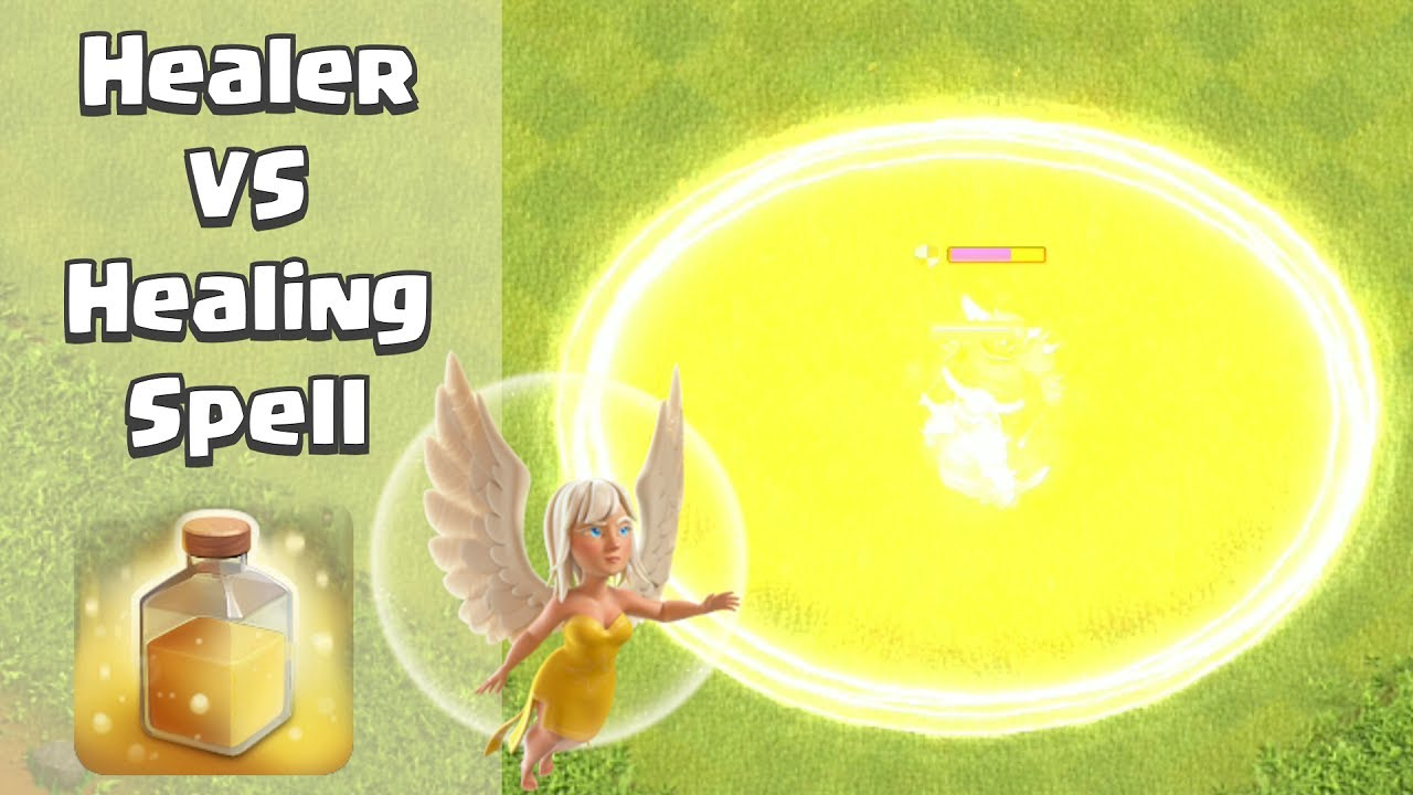 Healer VS Healing Spell | Clash of Clans