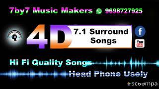 Adiye Adi Chinna Pulla High Quality 7 1 Surround 4D Songs Head Phone Use