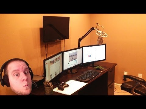 Jahova's New Office Tour! NEW PC Specs And Shiny Lights!