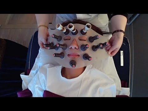 ASMR 중국 얼굴 청소 Chinese Facial moxibustion  面部艾灸