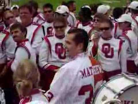 Ross Mathews plays in the Pride of Oklahoma Drumline
