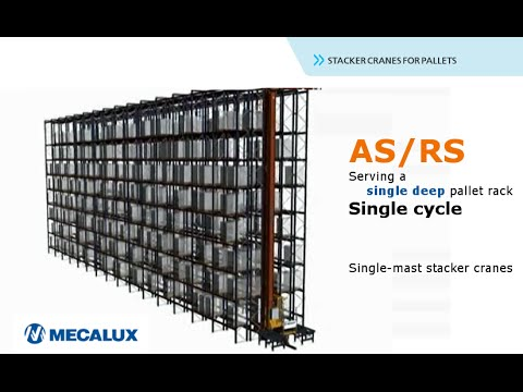 ASRS, single cycles for stacker cranes | Mecalux