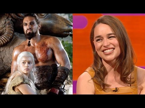 Emilia Clarke on Khal Drogo's BIG FLUFFY sense of humor - Th
