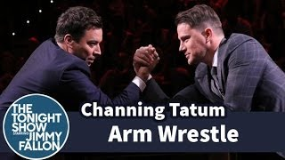 Jimmy Fallon and Channing Tatum Arm Wrestle