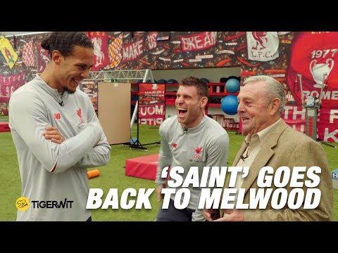 Ian St John Meets Klopp, Van Dijk And Andy Robertson | Saint Goes Back To Melwood