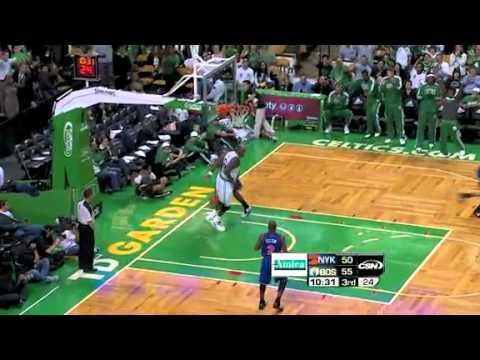 2010-11 Boston Celtics VS New York Knicks (Rondo, Triple-Double, 24 Assists!)