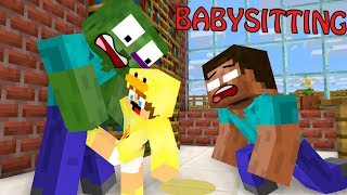 Monster School : BabySitter - Minecraft Animation