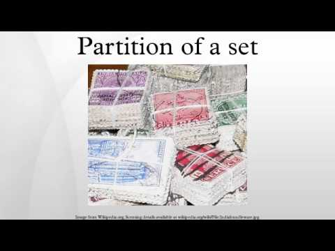 Partition of a set