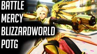 [Overwatch] Battle Mercy BlizzardWorld POTG