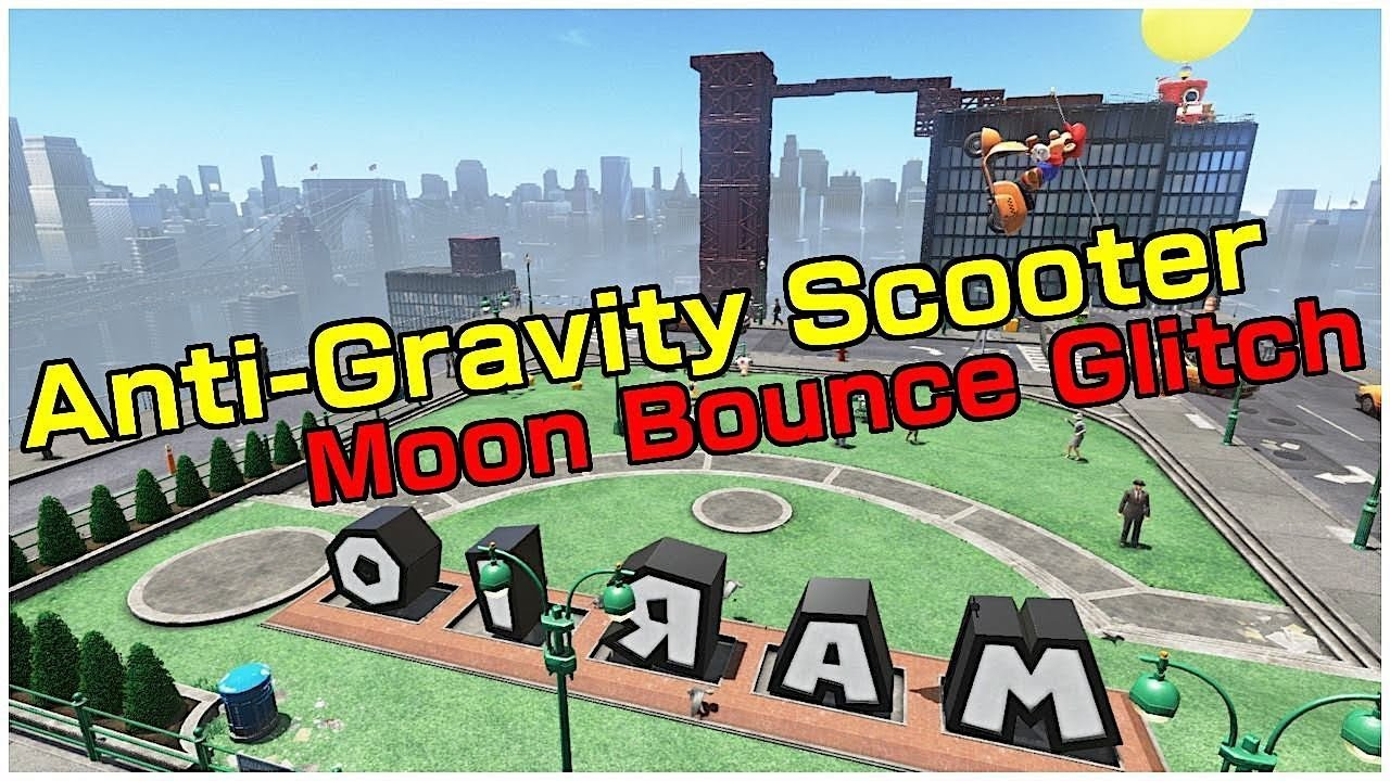 Moon Bounce Glitch Anti Gravity Scooter Super Mario Odyssey