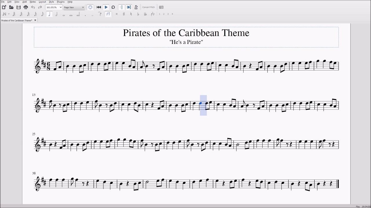 Pirates of the Carribean Theme for Alto/Bari Sax Sheet Music