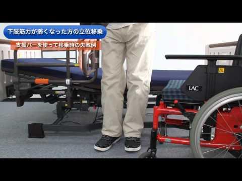 下肢筋力が弱くなった方の立位の移乗方法松尾清美