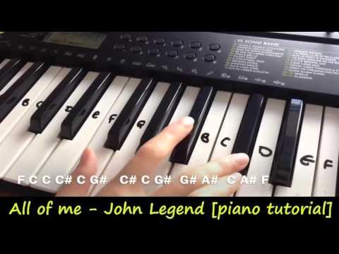 Adele Hello Piano tutorial easy all of me john legend [piano tutorial] (synthesia)