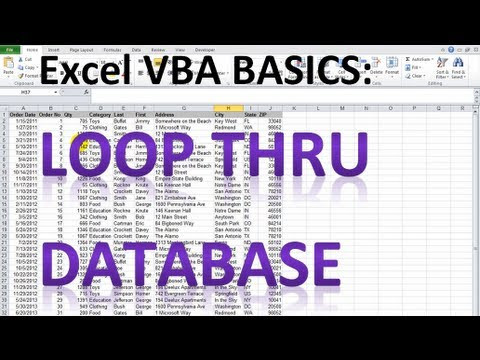 Excel VBA Basics #10 - Looping through a database and analyzing cells ...