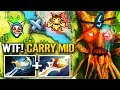 NEW CARRY MID - Dota 2 Treant Protector DIVINE Carry Ranked PRO Gameplay