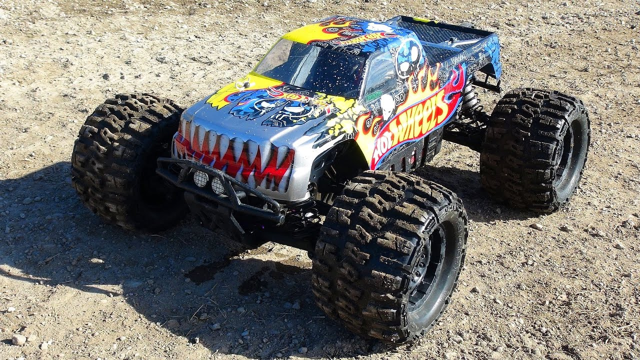 RC ADVENTURES 6s Lipo HOT WHEELS HPi SAVAGE FLUX HP w FLM Kit Monster Truck