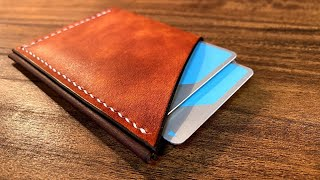 Making a Card Wallet / Leather work