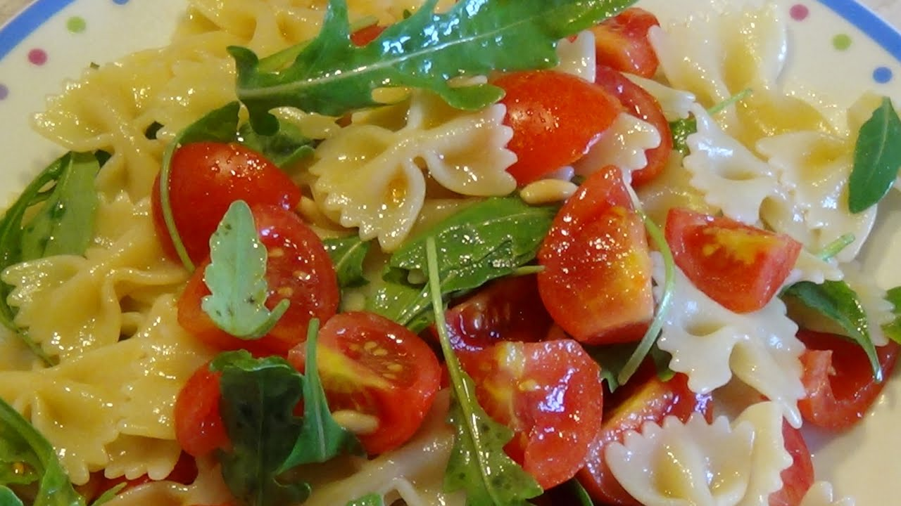 Favori Pasta fredda con pomodorini, rucola e pinoli - YouTube LY82