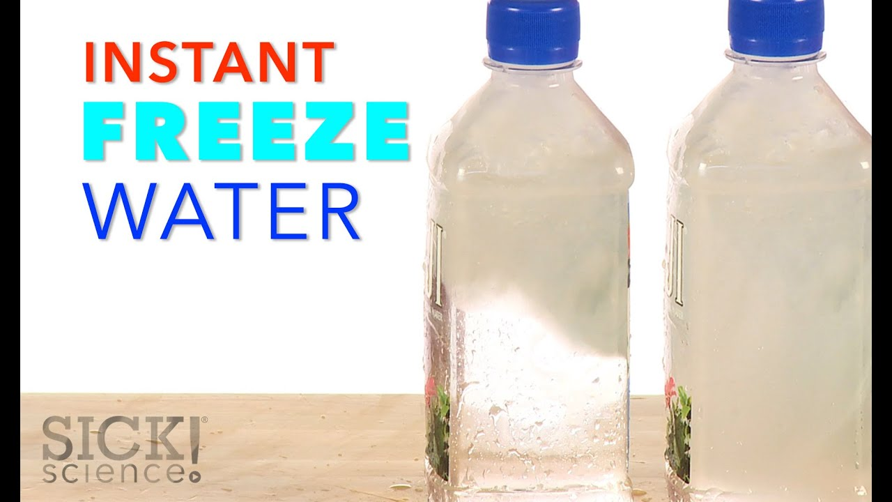 Instant Freeze Water - Bottle Slam | Experiments | Steve Spangler