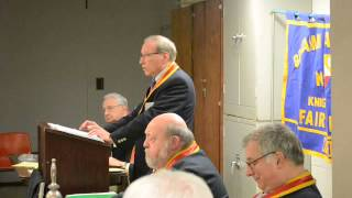 Knights of Pythias Cardozo Lodge Chancellor Commander opening remarks