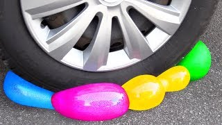 Crushing Crunchy & Soft Things by Car! EXPERIMENT Car vs SLIME & FOOD