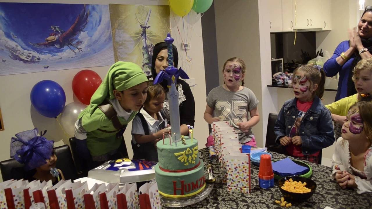 Humza Links 6th Birthday Party Legend Of Zelda Theme