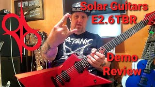 Solar Guitars E2.6TBR Review Demo