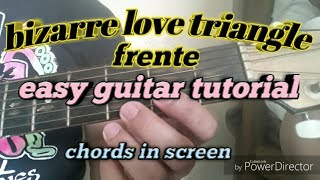 How to play Bizarre Love Triangle by Frente || easy guitar tutorial || guitar cover