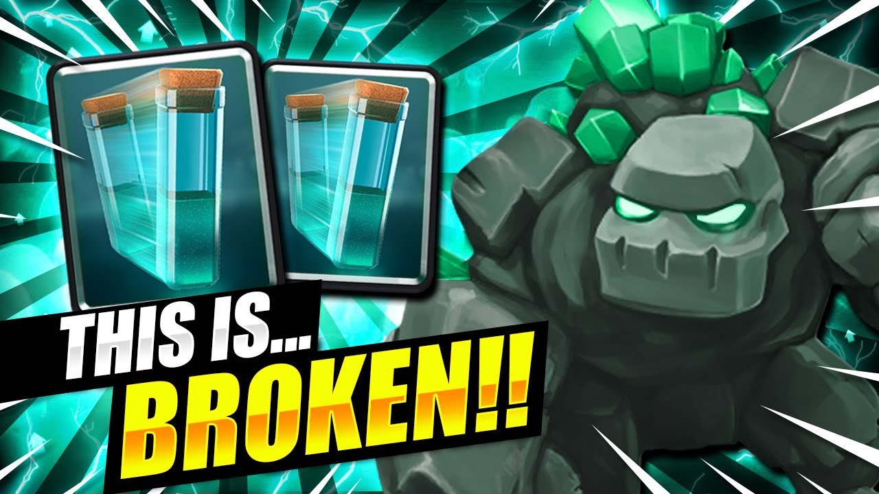 THIS DECK IS 100% BROKEN!! ZERO SKILL NEEDED TO WIN!! - Clash Royale Golem Deck
