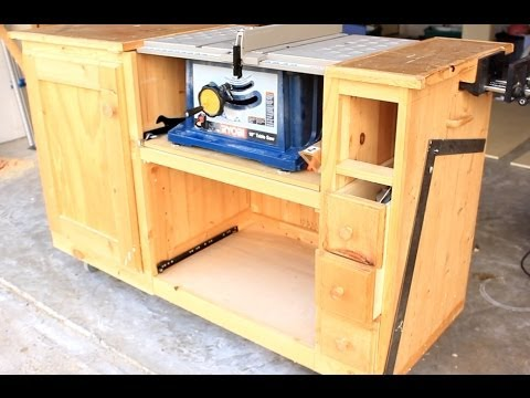 Diy Table Saw Workstation Part 1 - YouTube