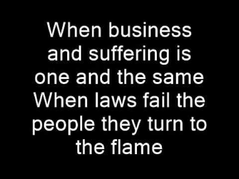Rise Against: The Eco-Terrorist In Me (Lyrics)