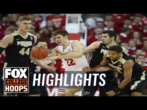 Purdue vs Wisconsin   HIGHLIGHTS   FOX COLLEGE HOOPS