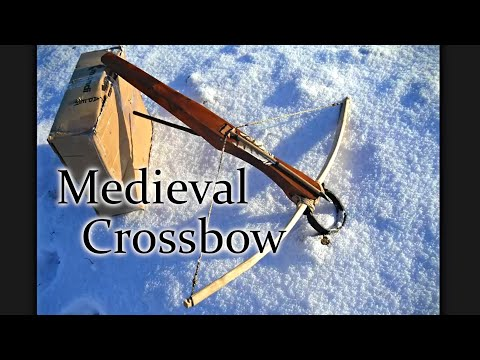 Making medieval wooden crossbow